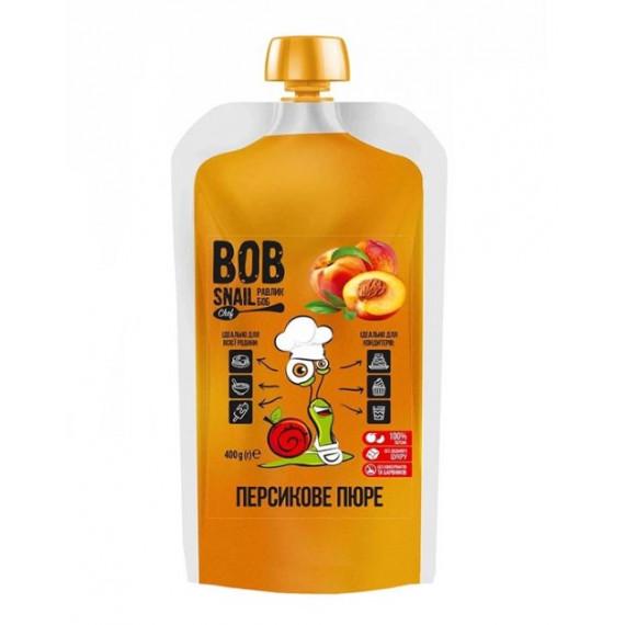 Персикове пюре, 400г Bob Snail