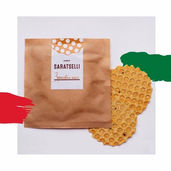Вафлі зерновий мікс, 55г Saratselli
