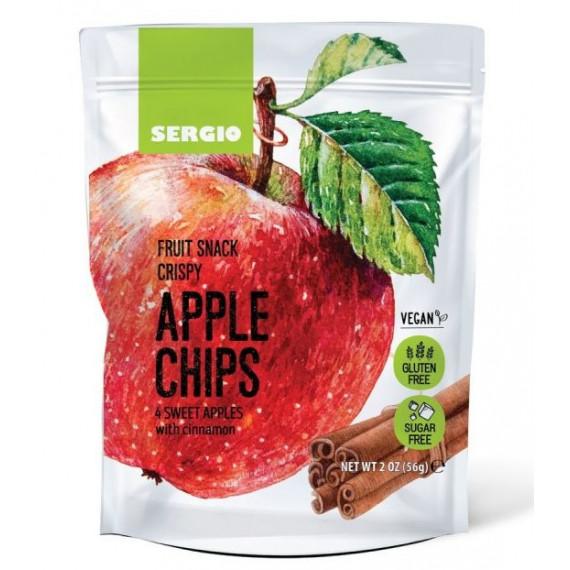 Яблучні чіпси з корицею, 56г Sergio