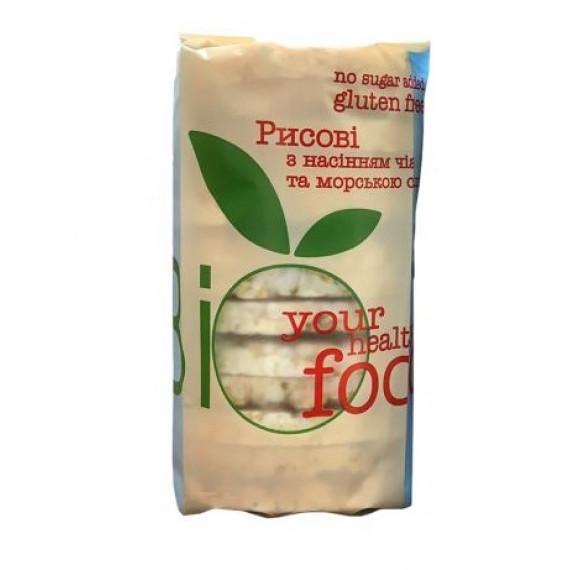 Хлібці рисові з насінням чіа та морскою сіллю, 100г Biofood