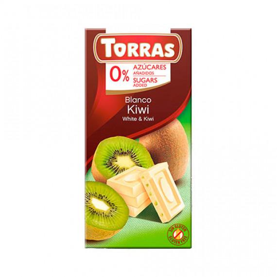 Білий шоколад без цукру з ківі (без глютену), 75г Torras