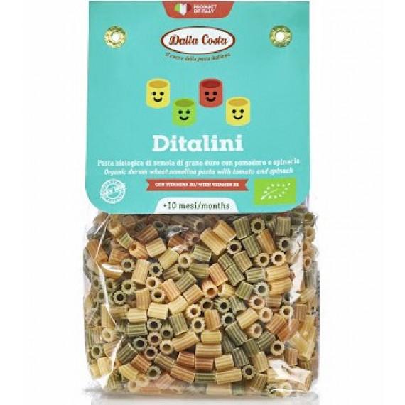Макарони Ditalini з пшеничного борошна твердих сортів органічні (для дитячого харчування), 200г Dalla Costa