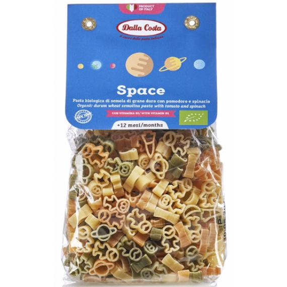 Макарони Space з пшеничного борошна твердих сортів органічні (для дитячого харчування), 200г Dalla Costa