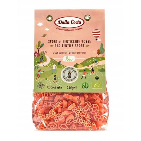 Макарони з борошна червоної сочевиці органічні, 250г Dalla Costa