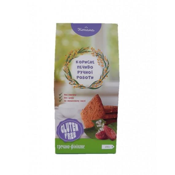 Гречано-фінікове печиво без глютену, 170г Кохана