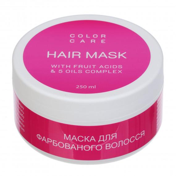 Маска для фарбованого волосся з фруктовими кислотами, 250мл Looky Look