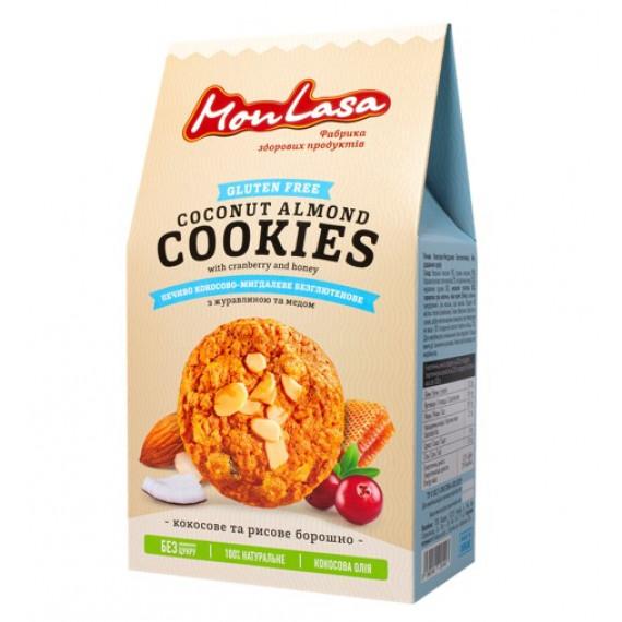 Печиво кокосово-мигдалеве безглютенове, 120г Mon Lasa