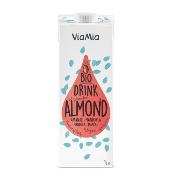 Напій мигдалевий без цукру органічний, 1л Via Mia