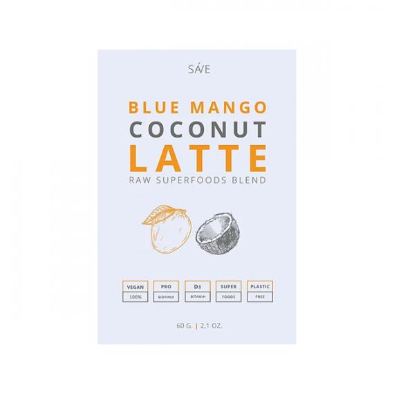 Суміш суперфудів BLUE MANGO COCONUT LATTE, 60г