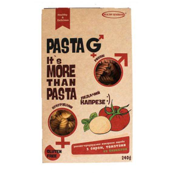 Макарони рисово-кукурудзяні з сиром, томатами та базиліком, 240г Healthy Generation