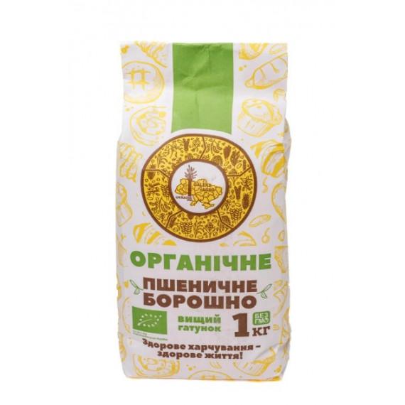 Борошно пшеничне органічне, 1кг Galeks-Agro