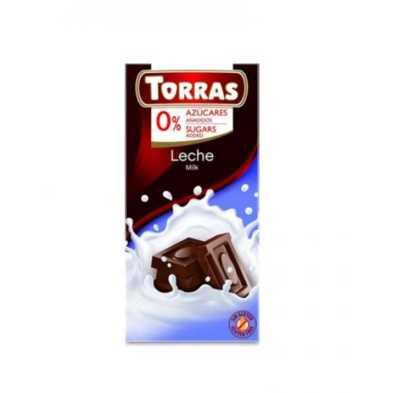 Молочний шоколад без цукру (без глютену), 75г Torras