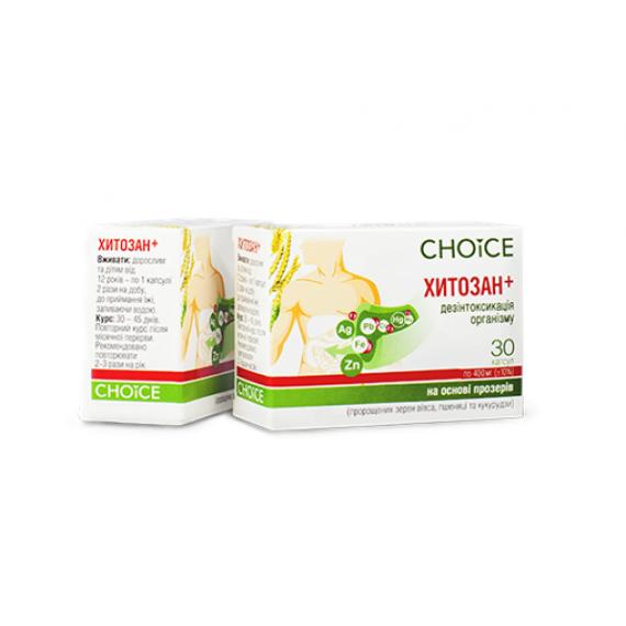 Хітозан+, 30 капсул Choice