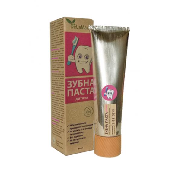 Зубна паста гігієнічна Дитяча, 80мл DeLaMark