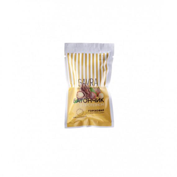 Батончик горіховий з протеїном, 50г Gavra