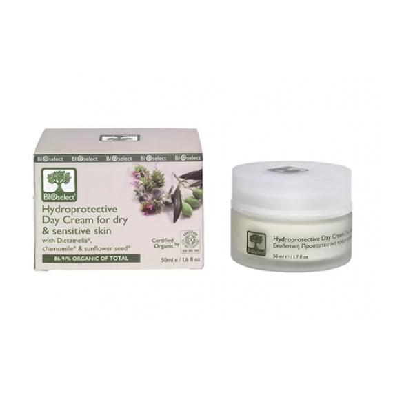 Зволожуючий денний крем для сухої і чутливої шкіри з Діктамелією і ромашкою, 50 мл Bio Select