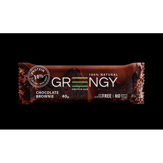 Протеїновий батончик Шоколадний брауні, 40г GREENGY