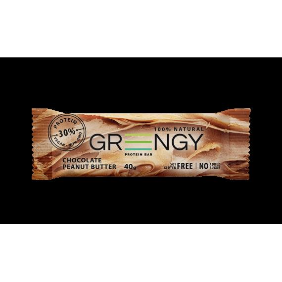 Протеїновий батончик Шоколадна арахісова паста, 40г GREENGY