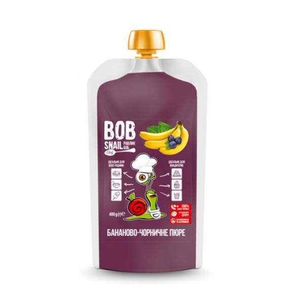 Бананово-чорничне пюре, 400г Bob Snail