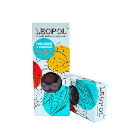Родзинки в молочному шоколаді, 50г Leopol
