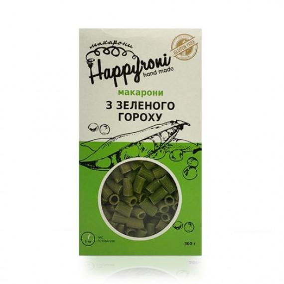 Макарони з зеленого гороху, 300г Happyroni