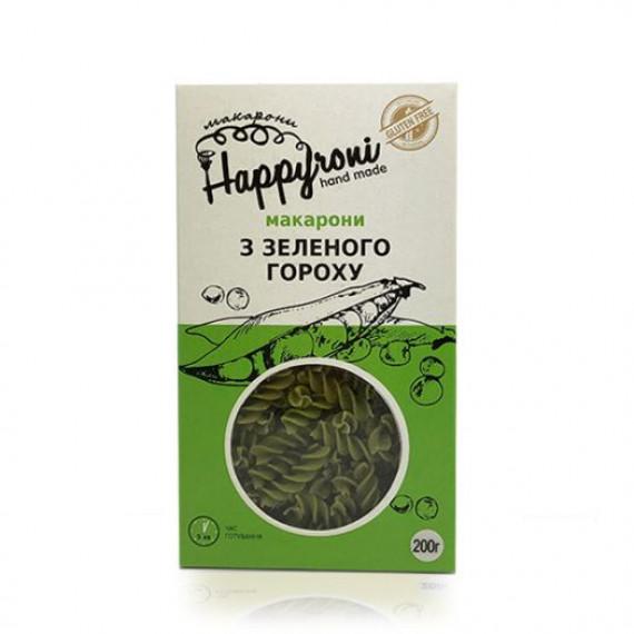 Макарони з зеленого гороху, 200г Happyroni