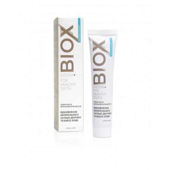 Зубна паста морський кальцій & D3, 75мл Biox
