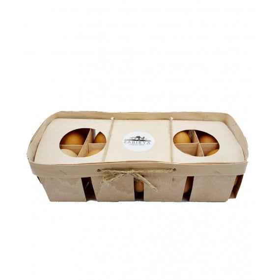 Яйця курячі органічні в дерев'яному пакуванні, 10шт Zabirya organic farm