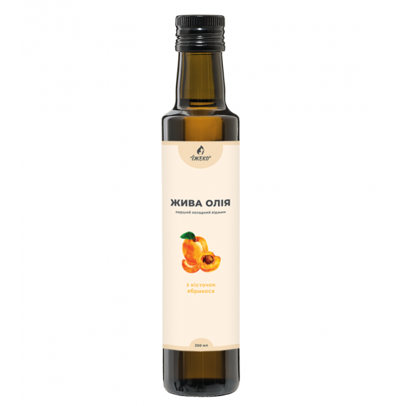 Олія з кісточок абрикоса, 250мл Їжеко