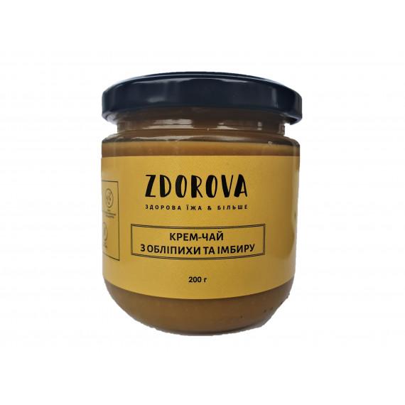 Крем-чай з обліпихи та імбиру, 200г ZDOROVA