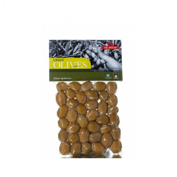 Оливки зелені з кісточкою, 250г ILIDA