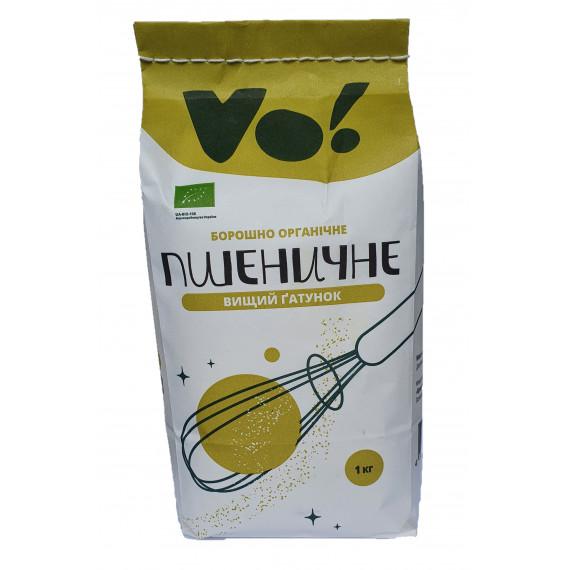 Борошно пшеничне вищого гатунку органічне, 1кг VO!