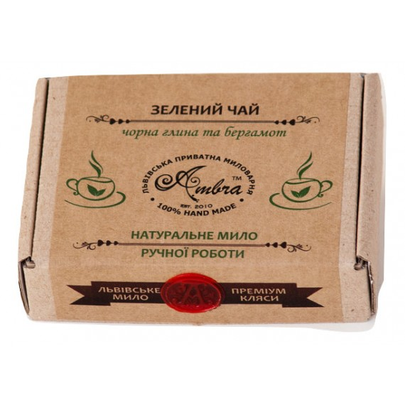 Мило натуральне Зелений чай