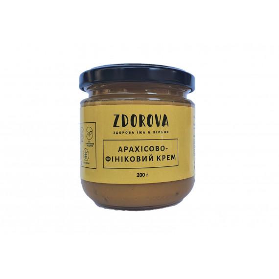 Арахісово-фініковий крем, 200г ZDOROVA