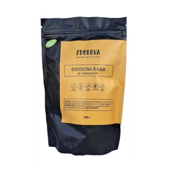Органічна фінікова кава зі спеціями, 200г ZDOROVA