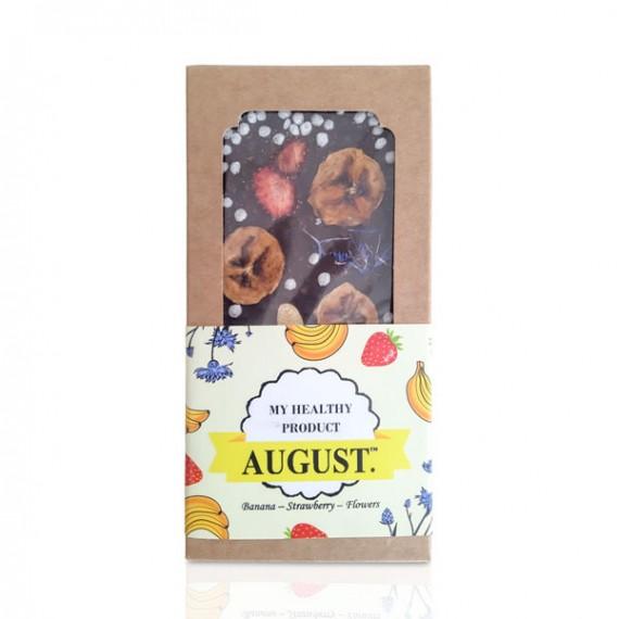Натуральний шоколад з фруктами, горіхами та квітами, 100 г August
