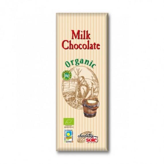 Шоколад молочний органічний, 25гр
