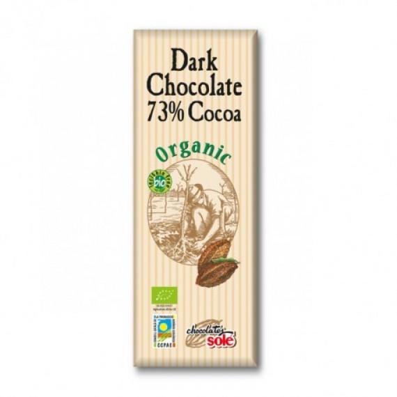Шоколад темний 73% органічний, 25гр