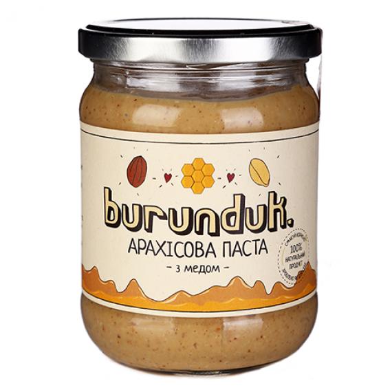 Арахісова паста с медом, 450 г Burunduk