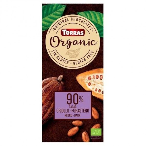 Шоколад Organic 90%, 100г Torras