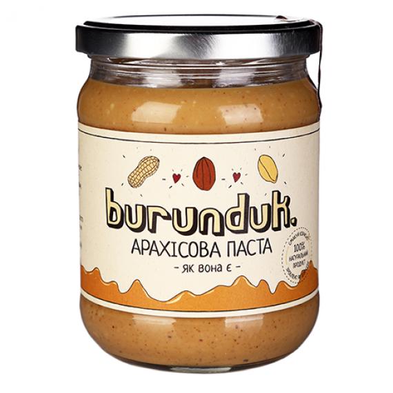 """Арахісова паста """"як вона є"""" , 450 г Burunduk"""