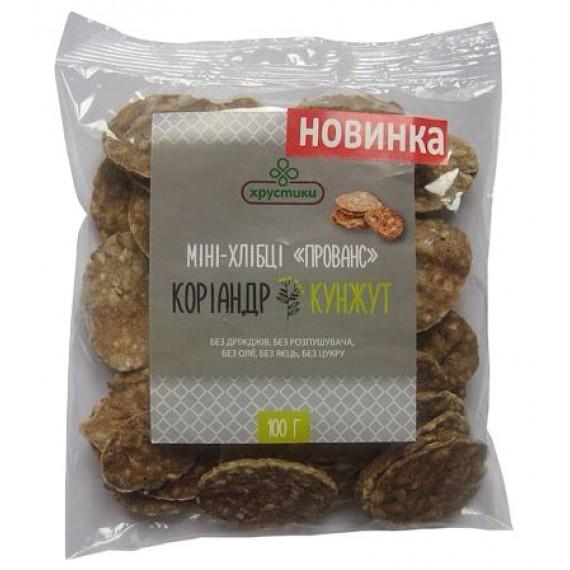 """Міні-хлібці хрустики """"Прованс"""", 100г"""
