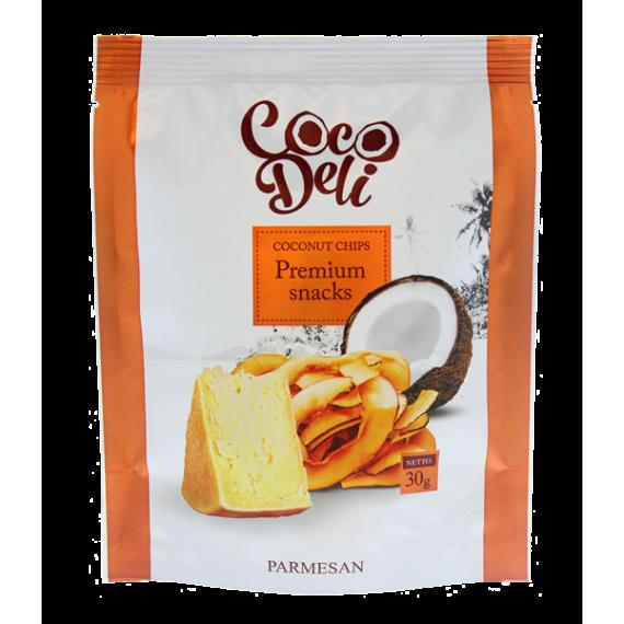 Кокосові чіпси з пармезаном, 30г Coco Deli