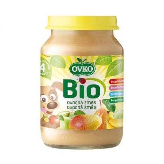 Стерілізоване фруктове пюре груша-яблуко, 190г