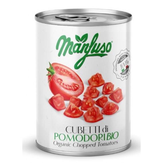Томати (помідори) нарізані органічні, 400г