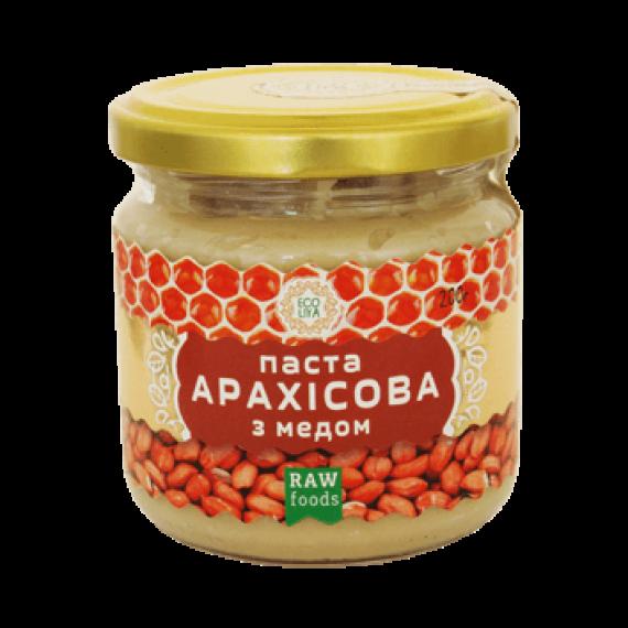 Паста арахiсова з медом (урбеч), 200 г Ecoliya