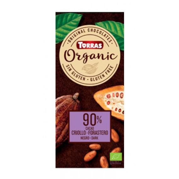 Шоколад Torras Organic 90%, 100г