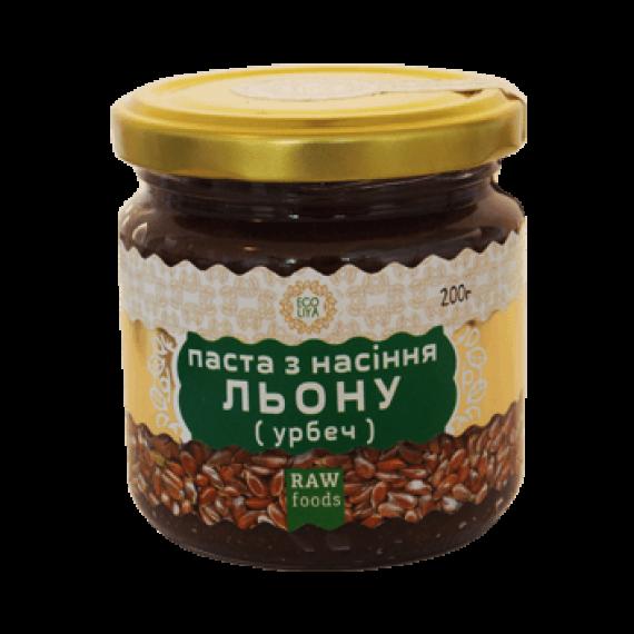 Паста з насіння льону (урбеч), 200 г Ecoliya