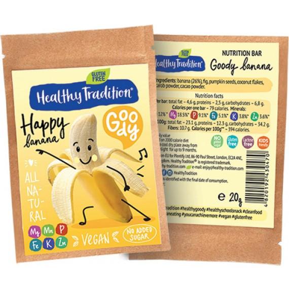 Поживний батончик банан, 20 г Healthy Tradition