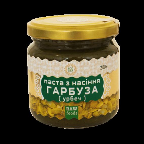 Паста з насіння гарбуза (урбеч), 200 г Ecoliya